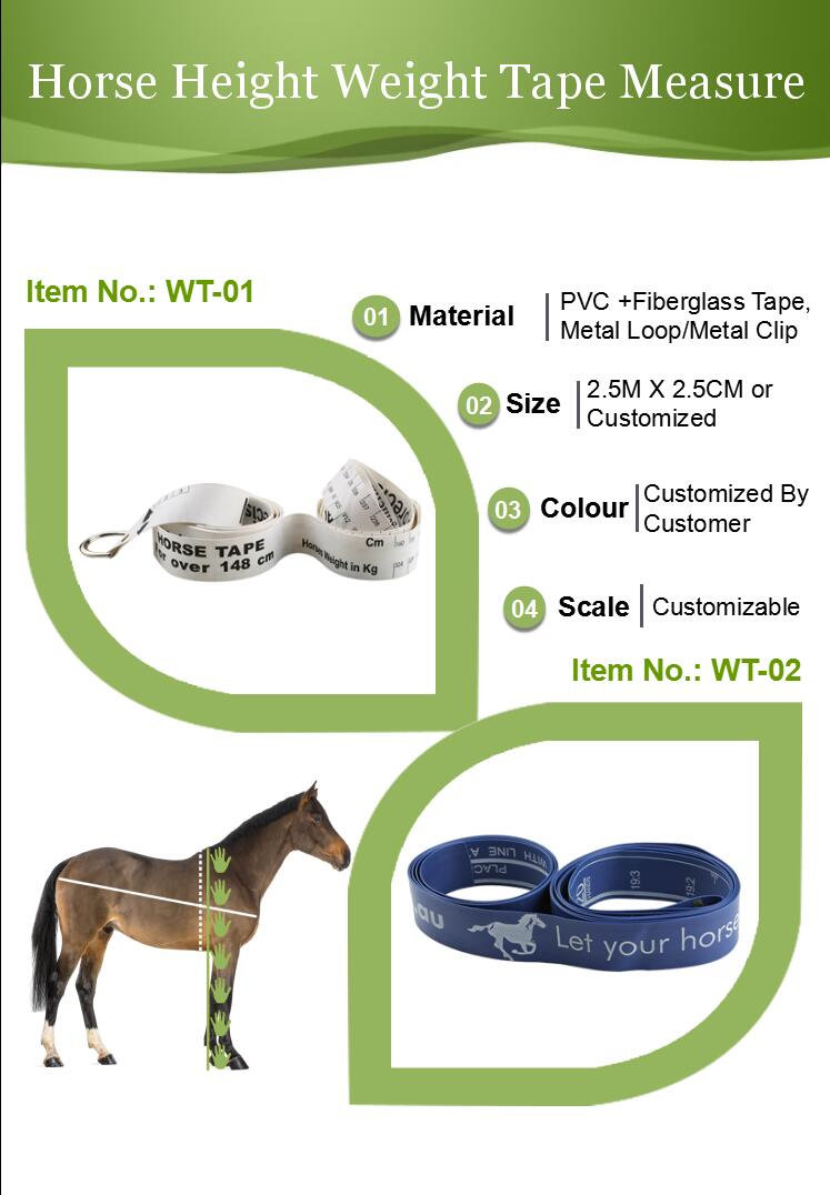 horse height weight tape measure